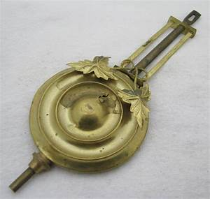 Antique Kitchen Clock Pendulum For Parts Repair