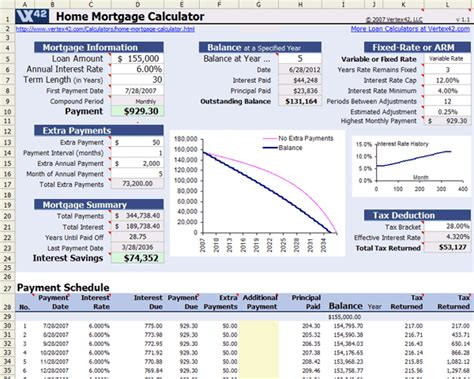 mortgage calculator excel template free home mortgage calculator for excel