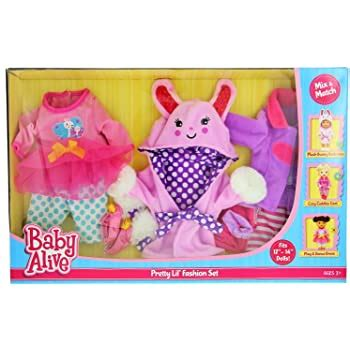Amazon com: Baby Alive Pretty Lil Fashion Clothing Set