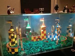 Coole Aquarium Deko : my lego quidditch aquarium at my office new small flat pinterest harry potter lego und ideen ~ Markanthonyermac.com Haus und Dekorationen