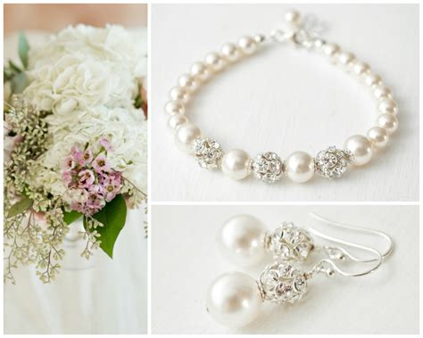 Wedding Jewelry Sets For Brides : Classic Wedding Jewelry Set Pearl Bridal Jewellery Set