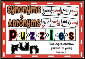 antonyms  synonyms puzzles fun  activity