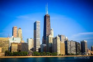 Picture Of Chicago Skyline With Hancock Building