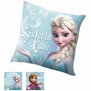 Coussin Reine Des Neiges : coussin la reine des neiges sistery love disney ~ Mglfilm.com Idées de Décoration