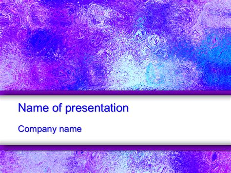 colorful ice powerpoint template
