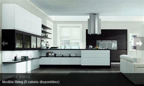 cuisine moderne noir et blanc cuisine contemporaine noir blanc stosa mon rdv habitat