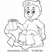 Potty Outline Training Coloring Clipart Template Sketch sketch template