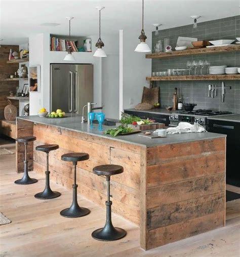 fabriquer un ilot de cuisine en bois les 25 meilleures idées concernant bar en bois de palettes sur barre de palette en