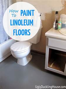 painted vinyl linoleum floors the ugly duckling house With what kind of paint to use on kitchen cabinets for hello i am stickers