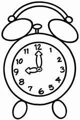 Clock Coloring Pages Alarm Appointment Sky sketch template