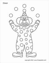 Printable Clown Clowns Coloring Pages Juggling Circus Templates Firstpalette Template Carnival Juggler Printables Preschool Crafts Tent Sheets Fun Shapes Activities sketch template