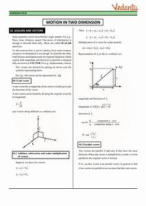 Class 11 Physics Revision Notes For Chapter 4