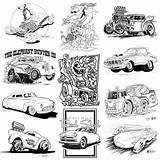 Coloring Rod Cars Cartoon Lowrider Colouring Drawings Cartoons Rods Truck Julie sketch template