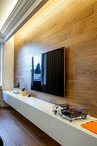 Wohnzimmer Indirekte Beleuchtung : indirekte beleuchtung und wandpaneel aus holz im wohnzimmer hausumbau pinterest ~ Sanjose-hotels-ca.com Haus und Dekorationen
