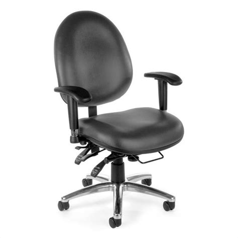 24 hour vinyl computer task office chair in charcoal 247