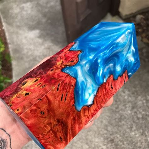 resin art  deranged donkey    piece  hot lava