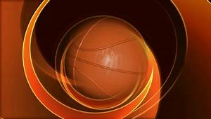 Spinning Basketball on Abstract Background Free Stock ...