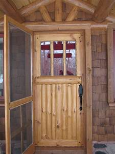 Custom, Made, Bolder, Shores, Log, U0026, Branch, Entry, Door, Insulated, Door, With, Insulated, Glassd, By, Cabin