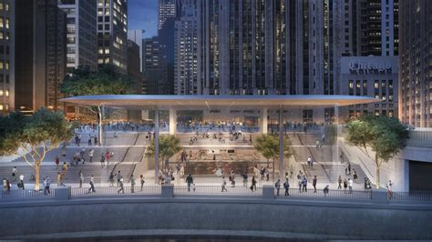 chicago s new apple store has a macbook air for a roof