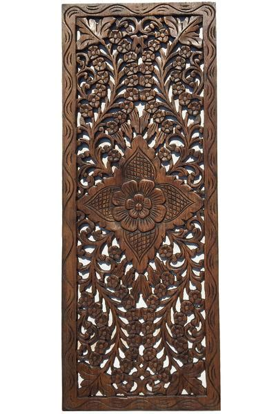 floral wood carved wall panel wall hanging decorative