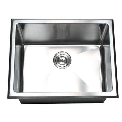 stainless steel drop in utility sink 23 inch undermount drop in stainless steel single bowl