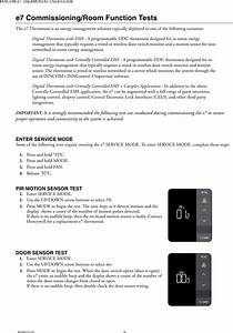 Honeywell 20152824 E7 Thermostat User Manual