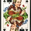 playing card queen stock photo  drmadra