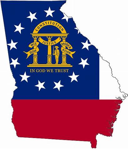 Georgia State Flag Map Government Projects Becomes