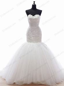 is049 unique fitted mermaid tulle bottom bridal wedding With tulle bottom wedding dress