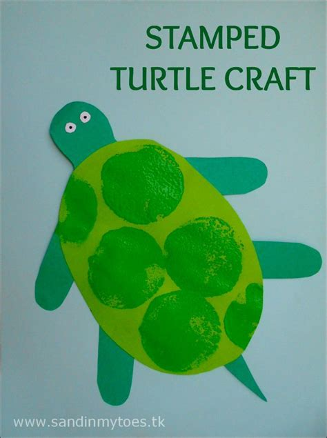 busy stamped turtle craft crafts and turtles 789 | b8791255fa343679ce48cc3489f34cff