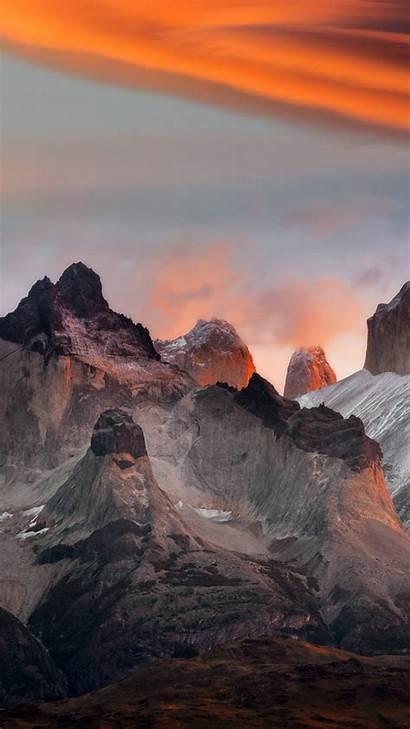 Nokia Mountains Sunset Galaxy Wallpapers Mobile Mountain