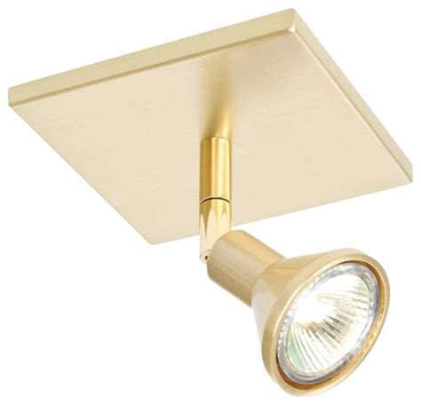 contemporary lichtstar brushed brass square canopy