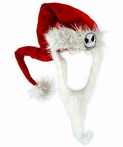 Jack Skellington Santa Hat With Beard - Adult Hat - at ...