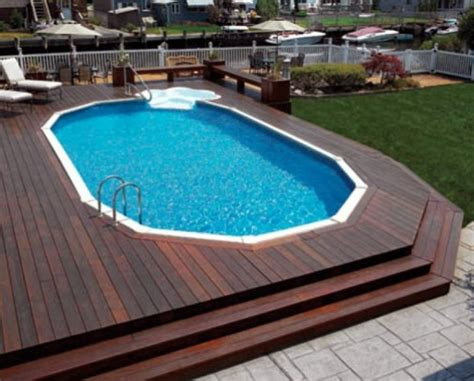 Above Ground Swimming Pool Steps Deck by 40 Uniquely Awesome Above Ground Pools With Decks