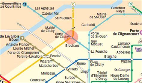 porte de clichy station map metro