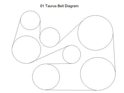 Solved Need Ford Taurus Serpentine Belt Diagram