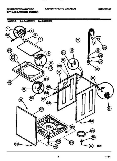 white westinghouse lg400sxw2 v2 27 quot gas washer dryer combo parts and accessories at partswarehouse