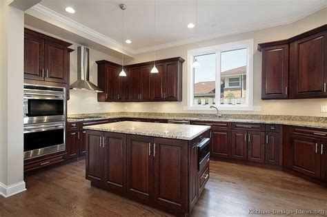 dark cabinets with wood floors pictures of kitchens traditional dark wood kitchens