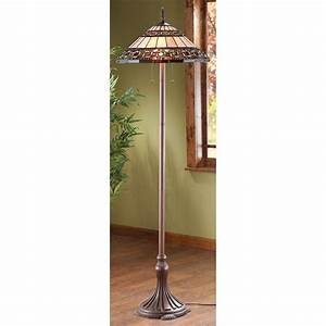 Tiffany style floor lamp 209359 lighting at sportsman for Tiffany type floor lamp