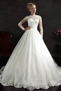 aliexpresscom buy new robe de mariage romantic white With where to find long sleeve wedding dresses