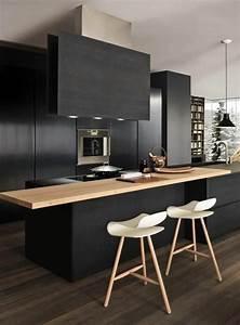 Meuble De Cuisine Noir : comment repeindre une cuisine id es en photos ~ Teatrodelosmanantiales.com Idées de Décoration