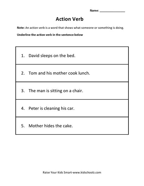 HD wallpapers worksheets on action words for grade 2