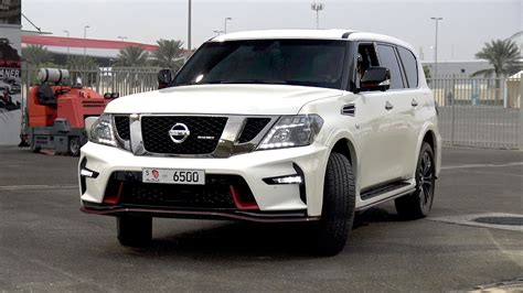 nissan patrol nismo   mile drag race youtube