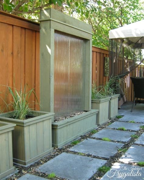 soothing diy garden fountains