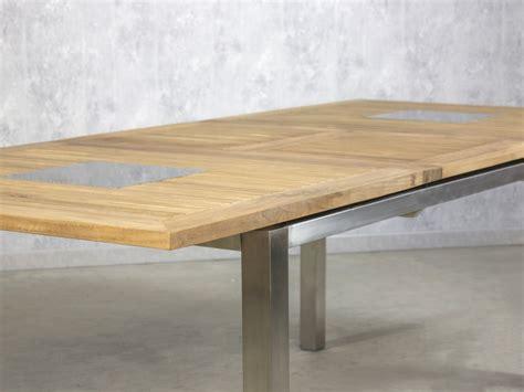 Ausziehbarer Gartentisch Holz by Gartentisch Ausziehbar Teak Edelstahl Massivholz
