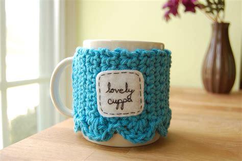 By yarnattacks in craft knitting & crochet. Lovely Cuppa Tea Mug Cozy Crocheted Blue Coffee Cup Cosy on Luulla