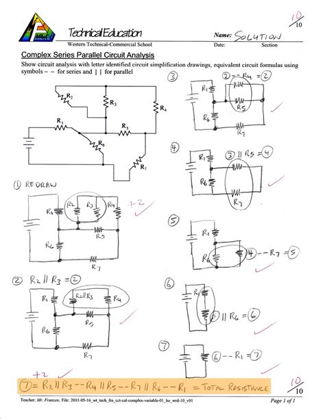 Series And Parallel Circuits Worksheet Answer Key Worksheets For All  Download And Share