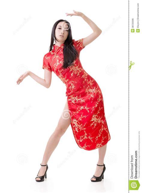 Chinese Woman Dress Traditional Cheongsam Royalty Free Stock Image Image 38725596