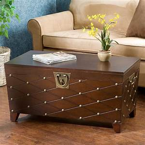 astoria grand cainhoe nailhead trunk coffee table With decorative trunk coffee table