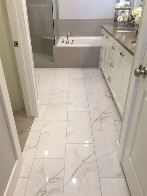 Tile Designs For Bathrooms by Awesome 30 Marble Tile Bathroom Flooring Ideas Home